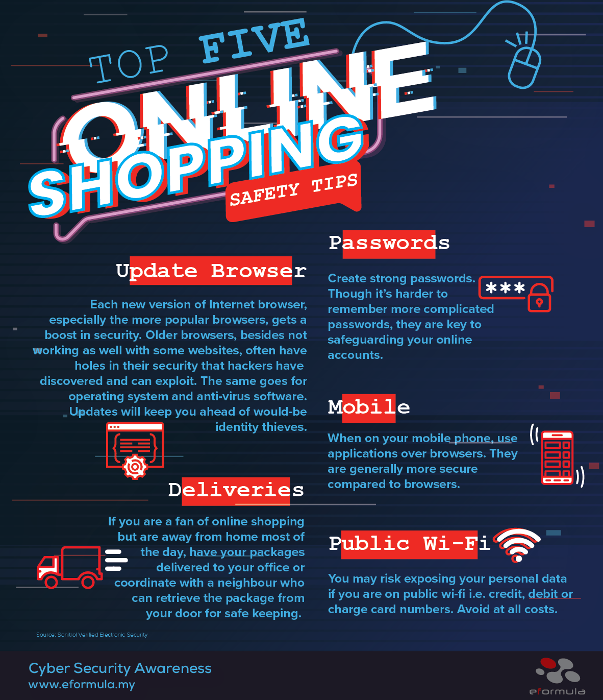 top 5 online shopping safety tips